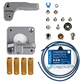 Creality Upgrade 3D Printer kit with Metal MK8 Gray Alloy Extruder + Capricorn Bowden PTFE Tubing(1M) + Bed-Level Spring 1.75mm Filament for Ender 3/3 Pro/CR-10 Series/10S/20/20 Pro Printers