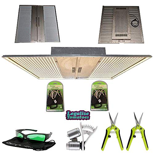 NextLight Mega Premium LED Grow Light Package | Includes 2X Grow Crew Ratchet Hangers, 2X Trimming Scissors, LED Glasses, and Phone Microscope | 5 Year Warranty | Legalize Tomatoes Sticker Included