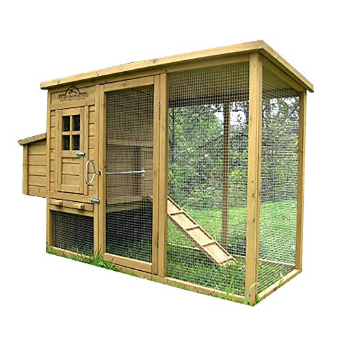 Pets Imperial Wentworth Large Chicken Coop Hen Ark  House Poultry Run Nest Box Rabbit Hutch Suitable For Up To 4 Birds - Integrated Run & Cleaning Tray & Innovative Locking Mechanism