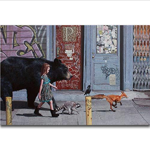 MZCYL Leinwand Malerei Album Cover Red Hot Chili Peppers Die Flucht Rockmusik Wandkunst Malerei Druck Auf Seide Leinwand Poster Dekoration 50X70 cm Ohne Farme