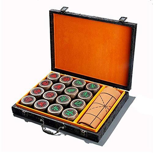 Conjunto de ajedrez, conjunto de tableros de ajedrez de regalo Conjunto de tablero de juego de ajedrez estándar de madera con piezas artesanales de madera para adultos portátiles juegos de niños trava