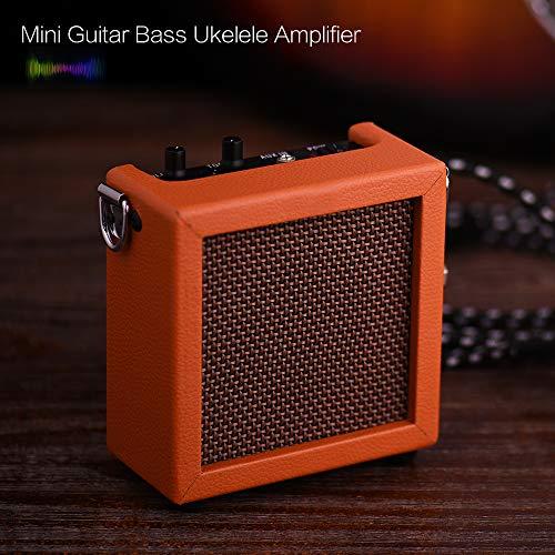 Amplificador de ukelele para bajo de guitarra con batería de alta sensibilidad, 3 W, 9 V, con control de tono de volumen