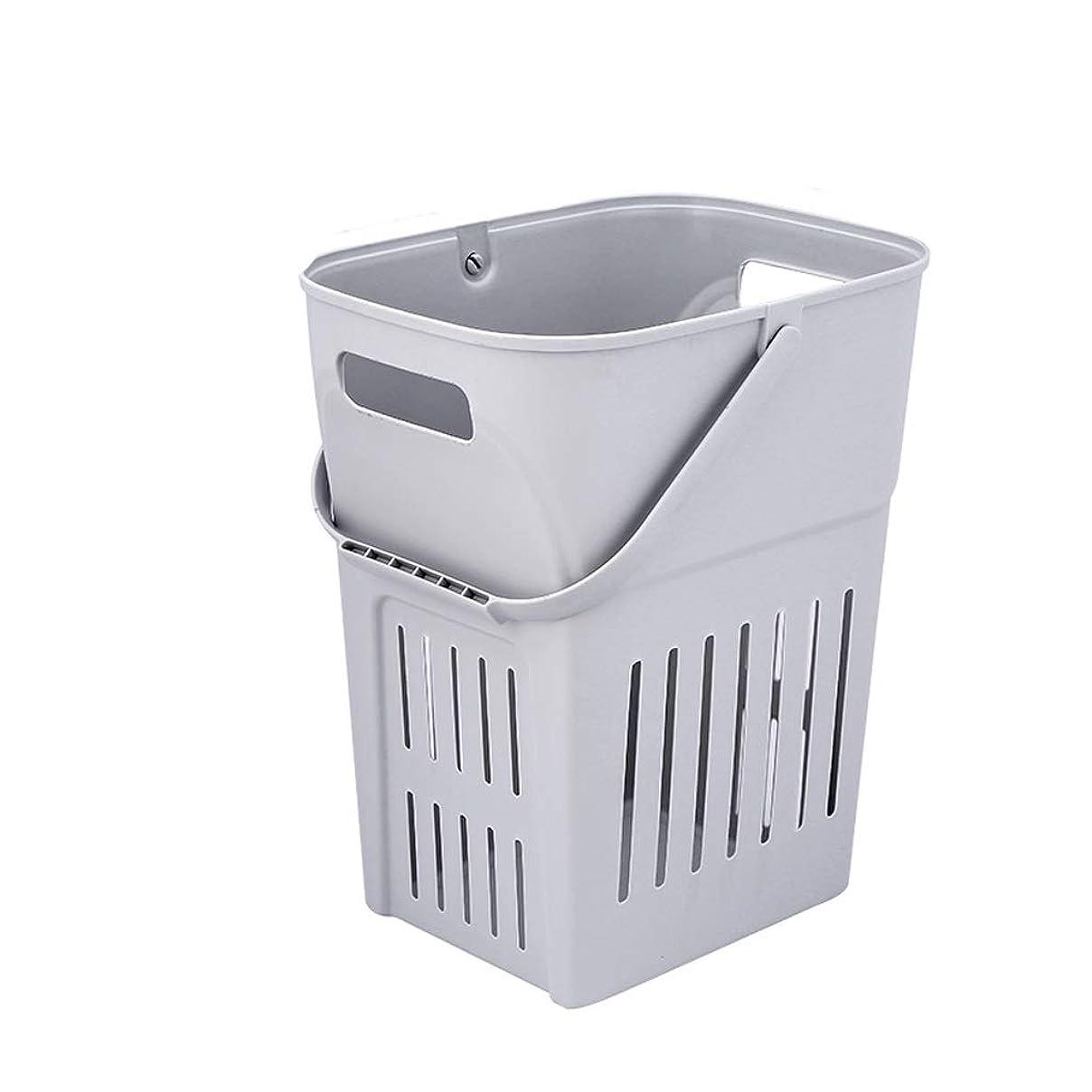 著者染料ジョガー汚れた衣類収納バスケット、携帯用洗濯物入れ、バスルーム用、プラスチック、2色 SMMRB (色 : B)