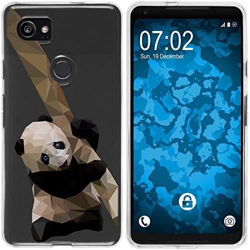 Preisvergleich Produktbild PhoneNatic Case kompatibel mit Google Pixel 2 XL Silikon-Hülle Vektor Tiere Panda M4