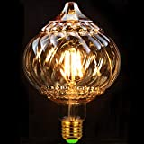 Bombillas Led Bombilla Vintage Bombilla Globo Cristal Eidson Bombilla 4W 220 / 240V E27 Bombilla Decorativa Blanco Cálido G125 Dorado (G125 Lantern Golden)