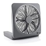 O2COOL 10-Inch Standard Base Personal Fan, Universal, Gray