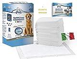 cubex professional® Tappetini traversine igienici assorbenti per Animali Domestici con Adesivo ed Anti Odore + in Omaggio SALVIETTE DETERGENTI per Animali.per Cani e Gatti (100, 60x90)