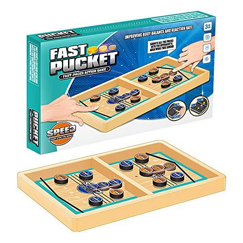 Desktop-Spiel Spielzeug Schach Spielen Holz Kinder Auswurf Schach Tisch Eishockey Stoßstange Katapult Stoßstange Eltern-Kind Interaktives Spiel Tisch