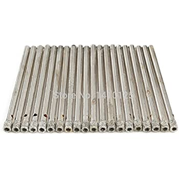 """10x 5 mm 3//16/"""" Diamond Coated Hole Saw Cutter FORET Verre Marbre Carrelage Granit"""
