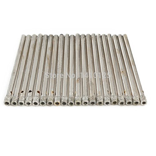 JOINER 3 mm 1/8' inch Coated Diamond Hole Saw Core Drill Bit Masonry Drilling Cutter for Glass Marble Tile Granite Gemstone Tools Pack of 20Pcs