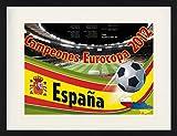 1art1 Fútbol - Campeones Eurocopa 2012 Póster De Colección Enmarcado (80 x 60cm)