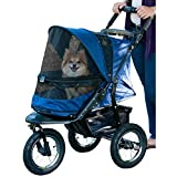 The Pet Gear jogger stroller comes with many outstanding features such as zipperless entry