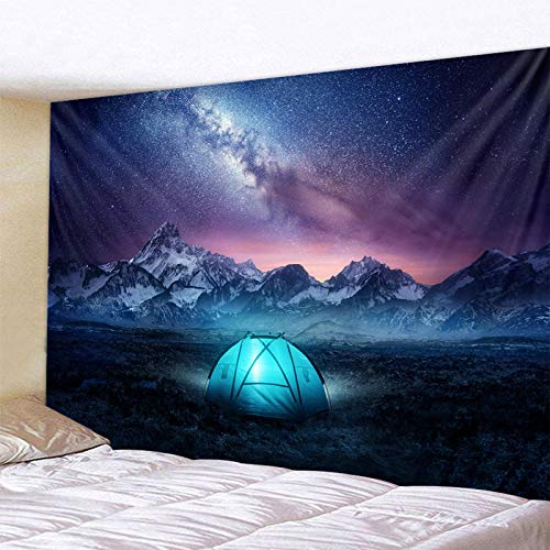 SJJUAN Tent Under The Stars Tapestry Wall Hanging Decoration Living Room Bedroom Dormitory Home Decoration Tapestry