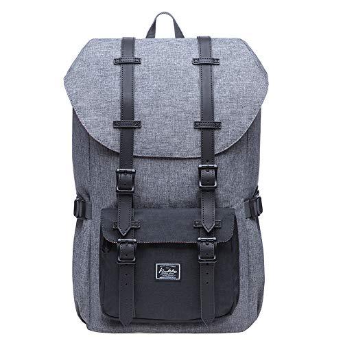 KAUKKO Rucksack Damen Herren Schön und Durchdacht Daypack mit Laptopfach für 15 Zoll Notebook für Schule,Uni, 20 L