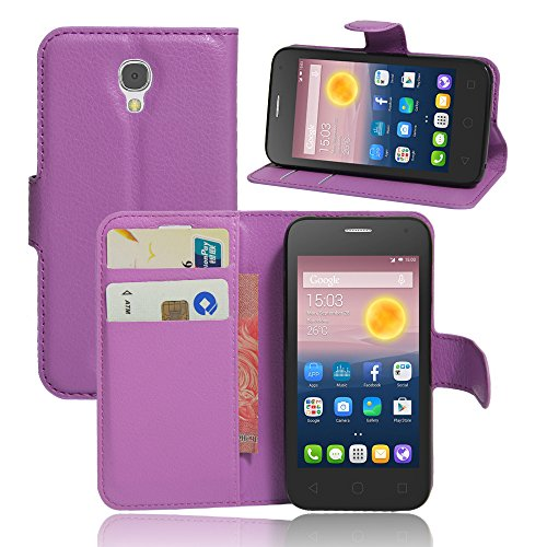 Litao-Case CN Hülle für ALCATEL ONE Touch PIXI First 4024D hülle Flip Leder + TPU Silikon Fixierh Schutzhülle Case 3