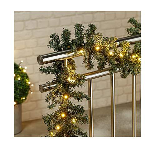 Markenlos LED Weihnachtsgirlande in naturnaher Tannenoptik für innen und außen