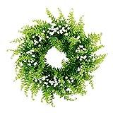 P Prettyia Handgemachter Gypsophila Kunstblumen Kranz Dekokranz für Tür Wand