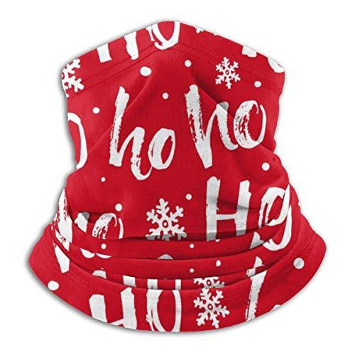 zzzswbl Face Scarf Hohoho Santa Claus Lachen Für Weihnachten Bandanas Atmungsaktive Wärmere Arbeit Unisex Nahtlose Halsmanschette Sommer Sonnencreme Outdoor Motorradfahren Party Winter Ko