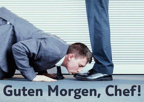Postkarte A6 +++ LUSTIG von modern times +++ GUTEN MORGEN, CHEF! +++ ART & IMAGE