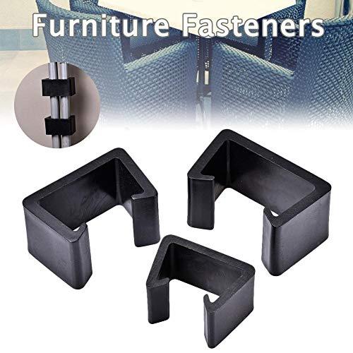 Anschluss-Clips Klemmbefestigungen für Rattan-Möbel Stühle Sofas Korbmöbel für die Außenterrasse, Kunststoff Gartenmmöbel Lounge-Verbinder Langlebig Hitzebeständig