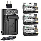 Kastar Battery (3X) and Charger for Pentax D-Li50 Konica Minolta NP-400 and Pentax K10 K10D K20 K20D Minolta A-5 A-7 Dimage A1 A2 Dynax 5D 7D Maxxum 5D 7D Samsung SLB-1647 GX-10/20 Sigma BP-21 SD1
