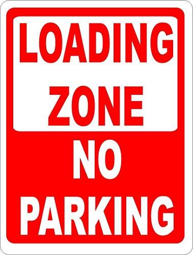 HONGXIN Loading Zone No Parking Help Keep Warehouse Load Vintage Metal Tin Sign para el hogar, bar, bar, garaje, decoración, banda, cerveza, huevos, café, supermercado, granja, jardín, dormitorio