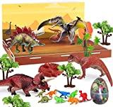 Dinosaur Toys - 7 Realistic Dinosaur Figures, Jurassic World Toys,Realistic Educational Model Animal Figurine, Dinosaur Playset Gifts for Boy & Girl 3,4,5,6,7,8 Years Old