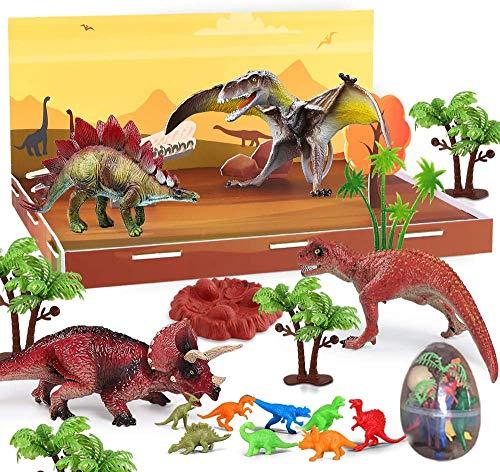 Dinosaur Toys - 7 Realistic Dinosaur Figures, Jurassic World Toys,Realistic Educational Model Animal Figurine, Dinosaur Playset Gifts for Boy & Girl 3,4,5,6,7,8 Years Old