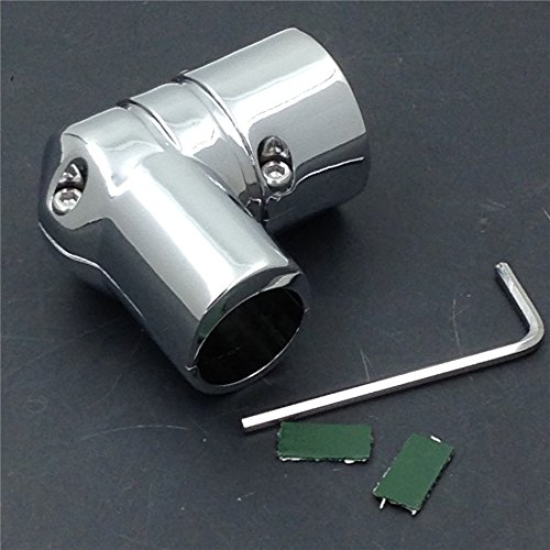 XKH Group Motorcycle Harley Dyna Super Glide EFI FXDI DRAG SPECIALTIES CHROME FUEL LINE FITTING COVER new Drag Specialties Chrome Motor