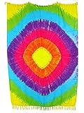 Pareo Sarong Tuch bunt gebatikt farbenfroh Batik Design/große Auswahl schönste Farben/Wickelrock Strandtuch Sauna-Tuch Wickelkleid Schal Bademode Freizeitmode Sommermode/aus 100% Viskose