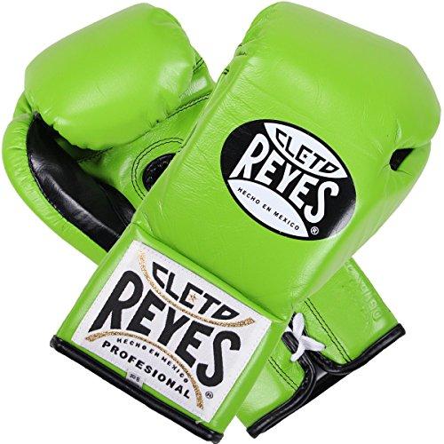 Cleto Reyes Official Boxing Gloves (Citrus Green, 10 oz)