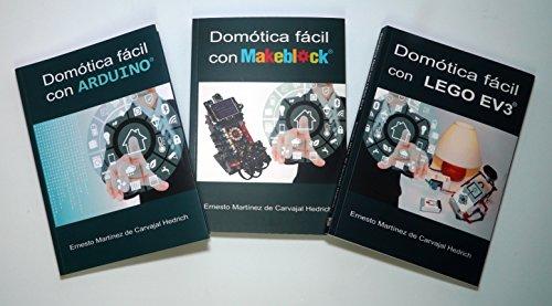 Pack 3 libros Domotica con LEGO, Arduino y Makeblock con 15% dto.