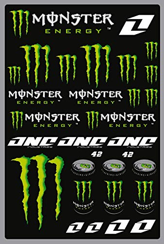 Kit DE Pegatinas DE Motocicleta Monster Sponsor MTB Compatible para KTM Honda Yamaha KTM Cross Enduro Helmet (42)