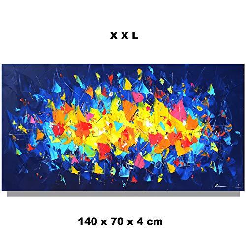 Stadt Skyline Acrylbild Gemälde abstrakt XXL handgemalt