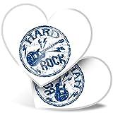 Impresionante pegatinas de corazón de 7,5 cm – Hard Rock Guitarra Eléctrica Music Fun calcomanías para portátiles, tabletas, equipaje, libros de chatarra, frigorífico, regalo genial #5433