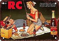 RCコーラ釣り メタルポスター壁画ショップ看板ショップ看板表示板金属板ブリキ看板情報防水装飾レストラン日本食料品店カフェ旅行用品誕生日新年クリスマスパーティーギフト