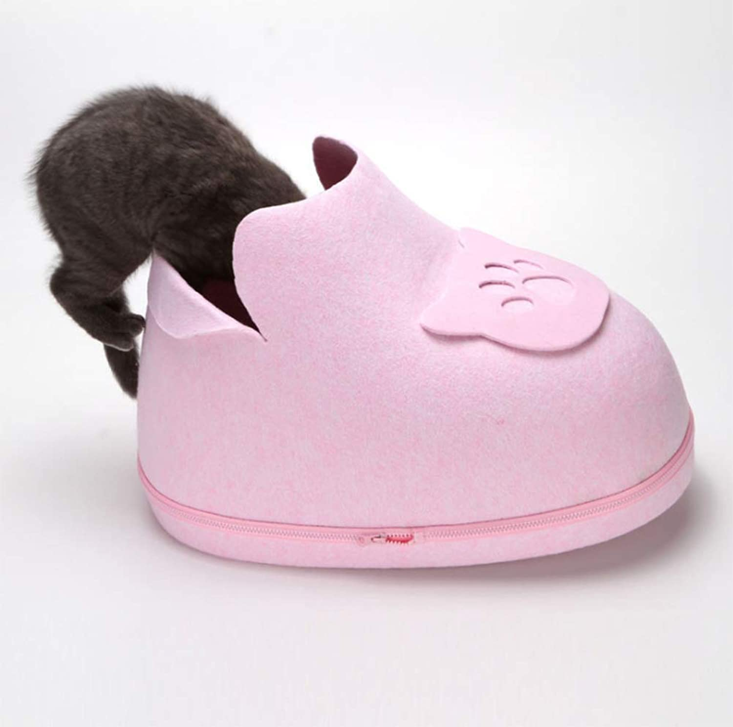 Cat Princess Bed Winter Winter Warm Washable pet Cute cat Litter shoes Kennel shoes cat Litter