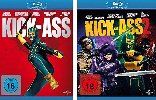 Kick-Ass 1 + 2 im Set - Deutsche Originalware [2 Blu-rays]