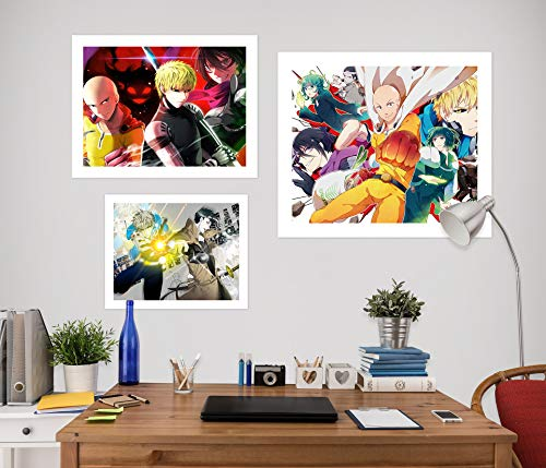 AJ WALLPAPER 3D One Punch Man 2130 - Adhesivo decorativo para pared, diseño de animales, Vinilo resistente (autoadhesivo)., X Large
