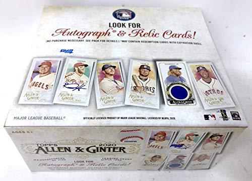 2020 Topps Allen & Ginter Baseball Retail Display Box