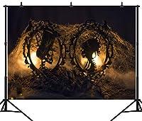 GooEoo ハロウィンテーマパンプキンランタンカスタマイズされたシームレスなビニール写真の背景写真の背景スタジオプロップPGT245A