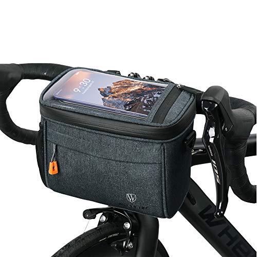 Fahrradtsche zur Befestigung am Lenker, mit abenehmbaren Schultergurt. Fahrrad Lenkertasche Wasserdicht Fahrradtasche Lenkertasche,Touchscreen Navigationstasche Große Kapazität