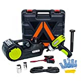 E-HEELP Car Jack Hydraulic 5 Ton 12V Electric Car Jack Kit (Lifting Range: 15.5-53cm with Impact Wrench & Inflator for Car SUV Sedan MPV with LCD & Tire Pressure Display