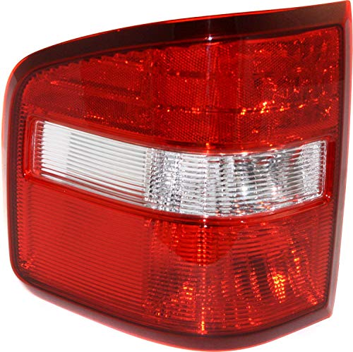 Tail Light Lens and Housing Compatible with 2004-2009 Ford F-150 Flareside New Body Style Driver Side