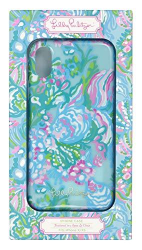 Lilly Pulitzer Women's Blue iPhone X/XS Case, Aqua La Vista