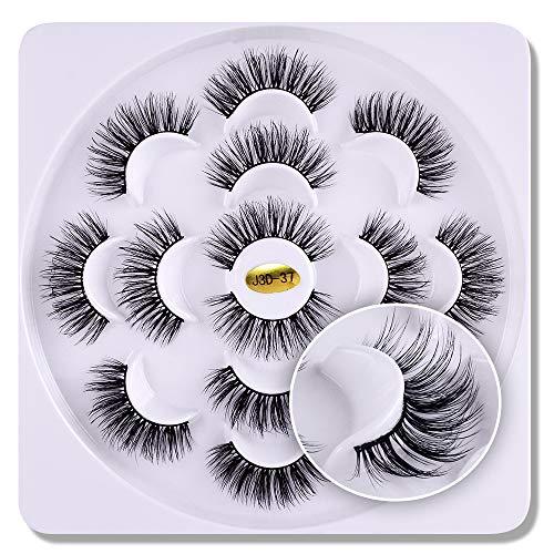 7 paires 3D cils vison Fluffies à la main Wispies Styles mélangés Naturel Longs Faux Cils(15)