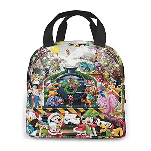 Bolsas de almuerzo con personajes de Disney para mujer, con aislamiento térmico, impermeable, caja de almuerzo para niños, escuela, niñas, adultos, para oficina, trabajo, compras, picnic, camping