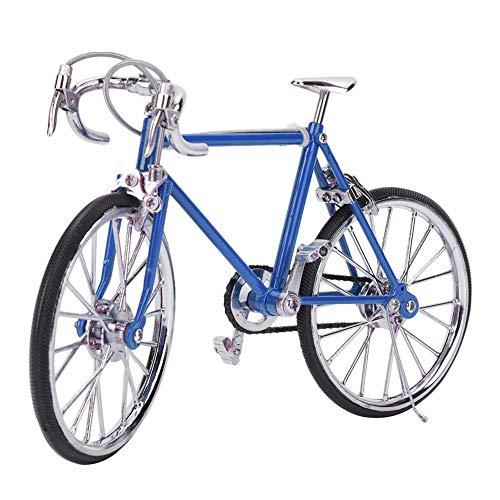 1:10 Mini Bicicleta de Casa de Muñecas, Modelo de vehículo de Bicicleta simulado en Miniatura de aleación Realista Mini Modelo de Bicicleta Adornos Accesorio de Juguete para casa de muñecas(Azul)