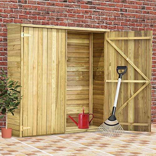 Festnight Garten-Geräteschuppen 163x50x171 cm Kiefernholz Imprägniert Garten-Gerätehaus Holzgerätehaus