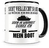 Samunshi® Ich denke an mein Boot Tasse Kaffeetasse
